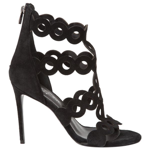 Barbara Bui Black Suede Sandals