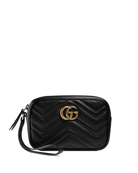 06d91cb0d933a0 Gucci Gg Marmont 2.0 Medium Quilted Wristlet, Black. MEMBER ONLY. 650Login  to see price