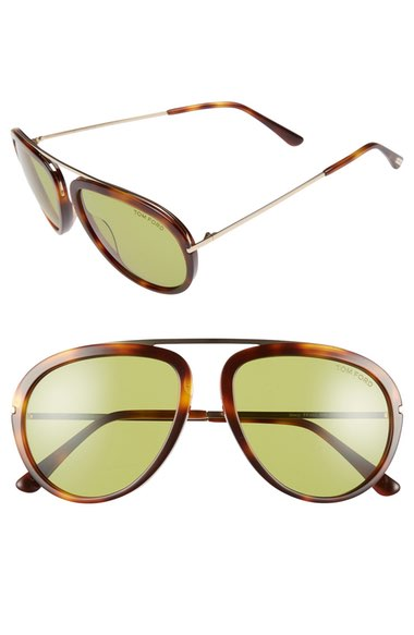 8238282492ce Tom Ford  Stacy  57Mm Sunglasses - Havana  Green
