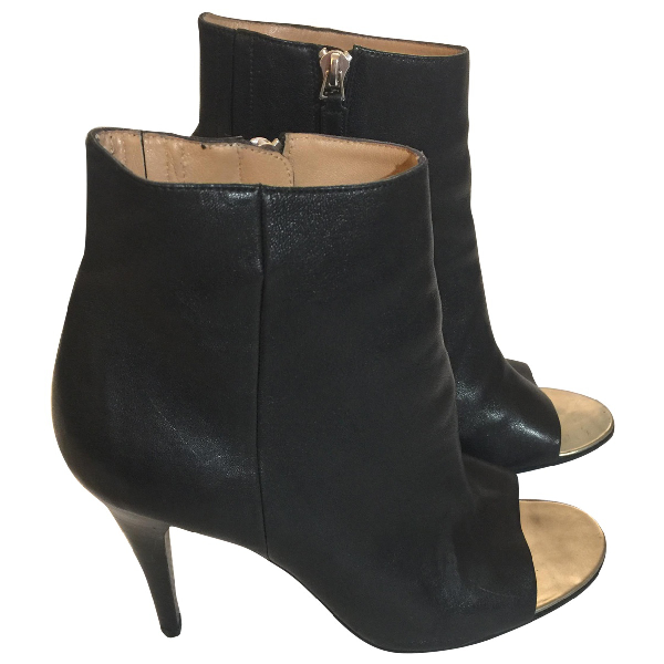 Barbara Bui Black Leather Ankle Boots