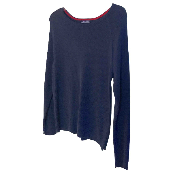Tommy Hilfiger Navy Cotton Knitwear