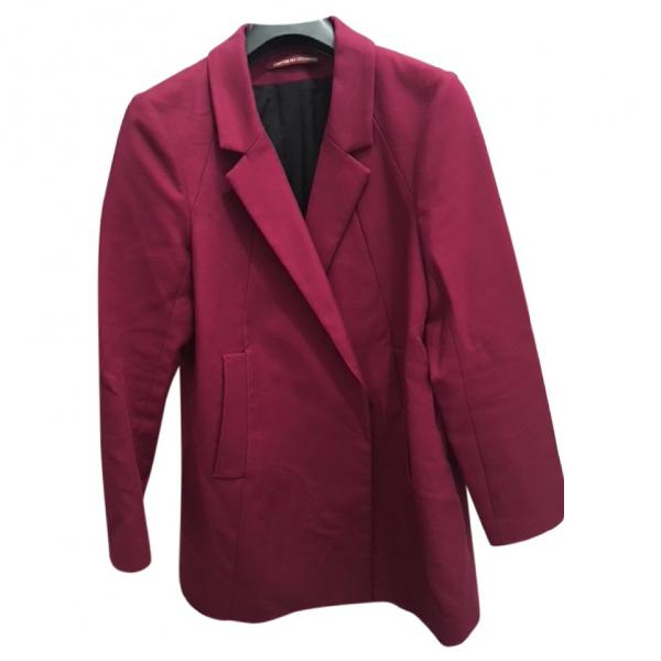 Comptoir Des Cotonniers Burgundy Cotton Jacket