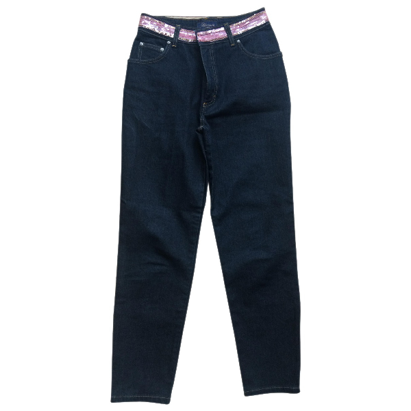 Blumarine Blue Cotton Jeans
