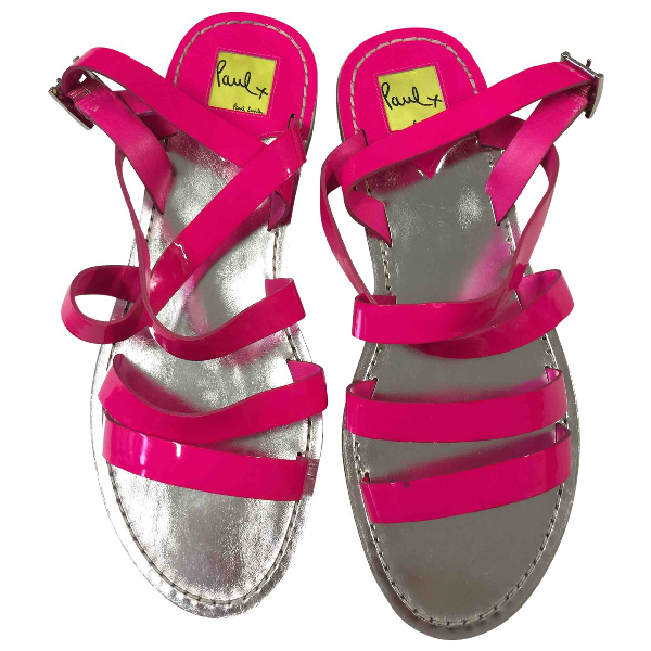Paul Smith Pink Patent Leather Sandals
