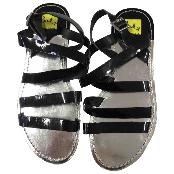 Paul Smith Black Patent Leather Sandals