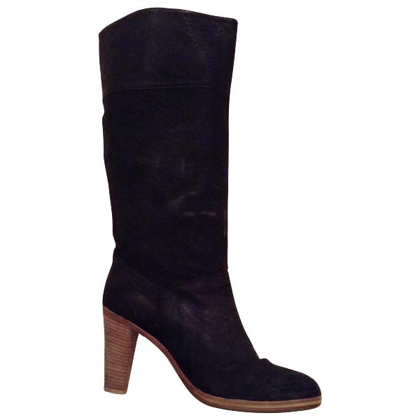 Comptoir Des Cotonniers Charcoal Leather Boots