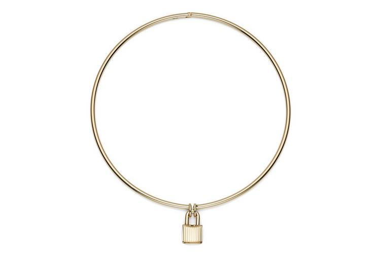 Tom Ford Padlock Choker In Gold