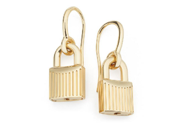 Tom Ford Padlock Earrings In Gold