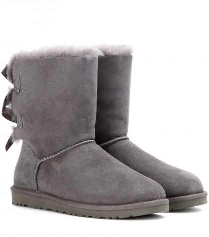 Ugg Bailey Bow Boots In Grey