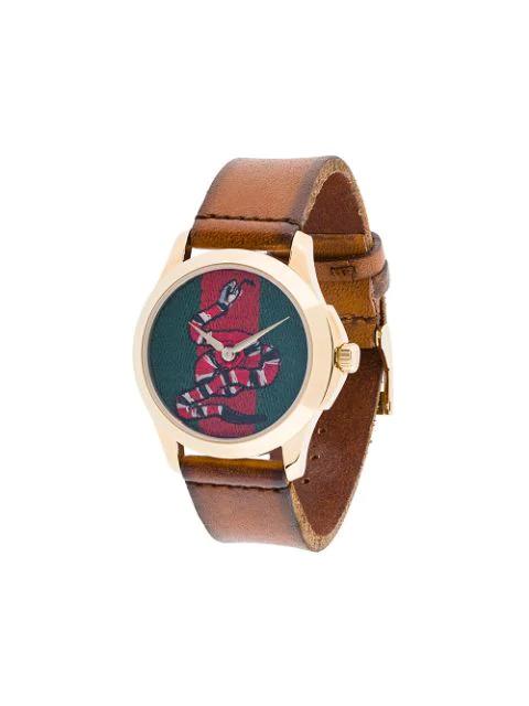 Gucci Watch Le MarchÉ Des Merveilles Watch Case 38Mm Motif Ape In Brown
