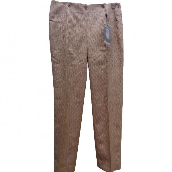 Alexander Mcqueen Beige Cotton Trousers
