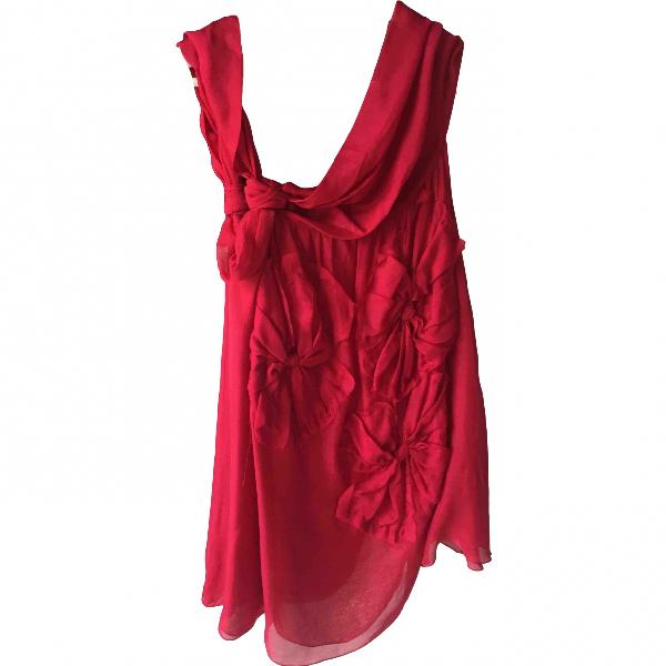 Philosophy Di Alberta Ferretti Red Silk  Top