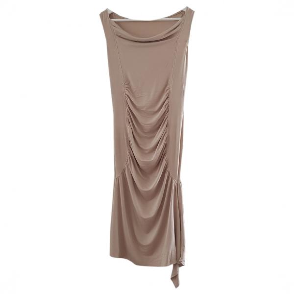 Vanessa Bruno Beige Cotton - Elasthane Dress