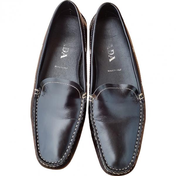 Prada Black Leather Flats