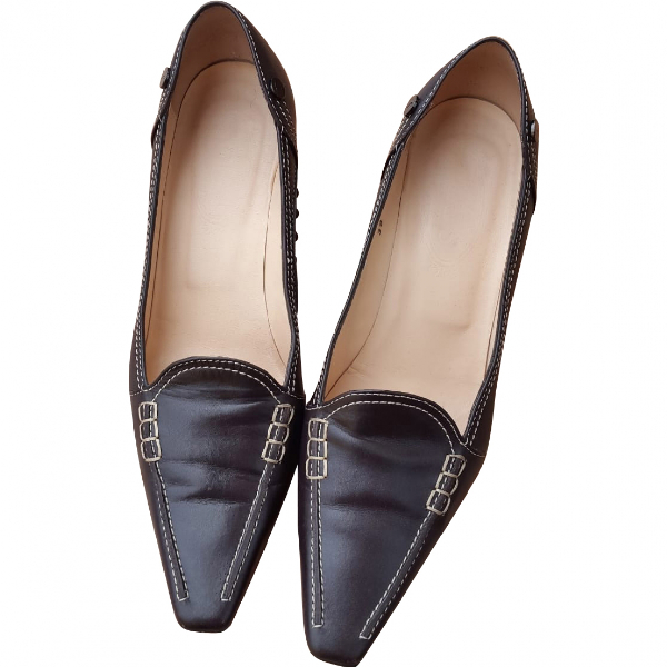 Tod's Brown Leather Heels