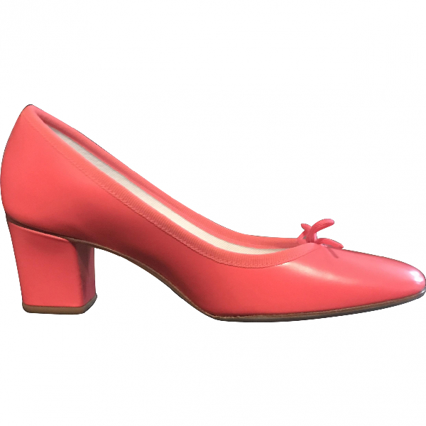Repetto Pink Leather Ballet Flats