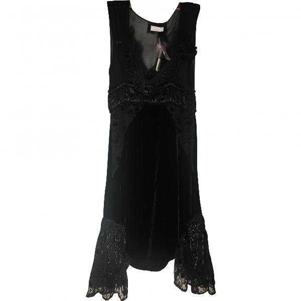 Pinko Black Velvet Dress