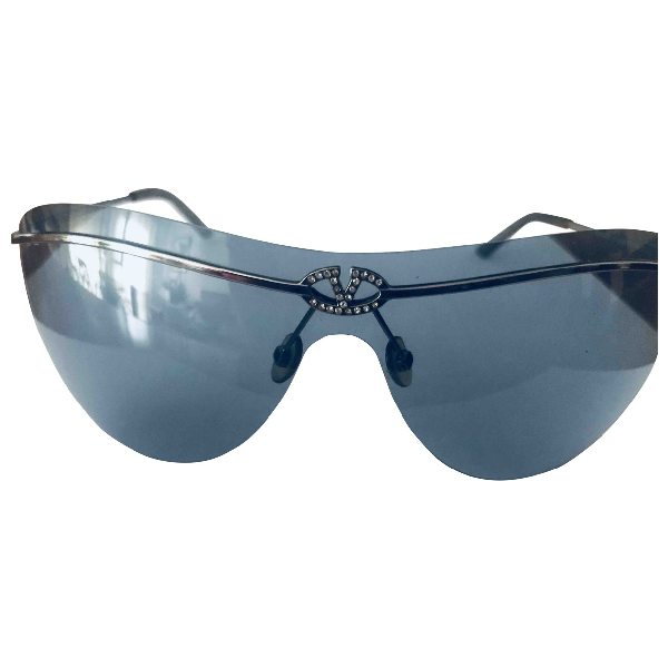 Valentino Blue Metal Sunglasses
