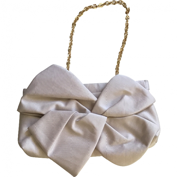 Paule Ka Ecru Cotton Handbag