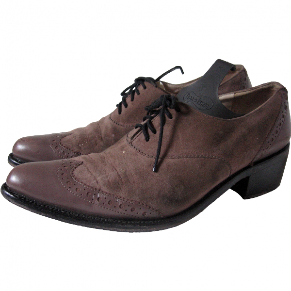 Robert Clergerie Beige Leather Lace Ups