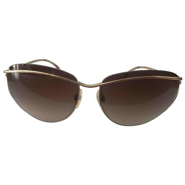 Chanel Gold Metal Sunglasses