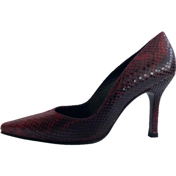 Stuart Weitzman Red Leather Heels