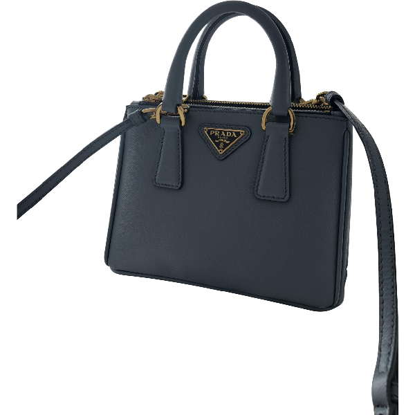Prada Galleria Blue Leather Handbag