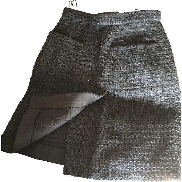 Chanel Black Tweed Skirt