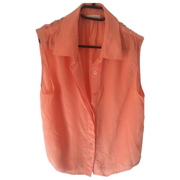 Gat Rimon Orange Silk  Top