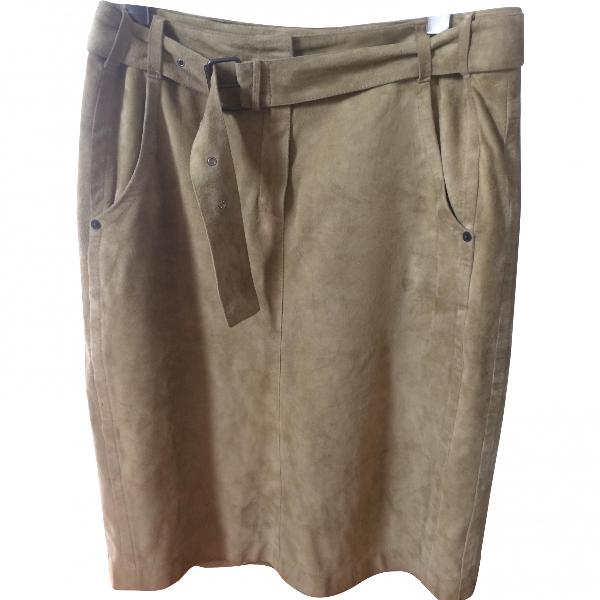Marc Cain Khaki Suede Skirt