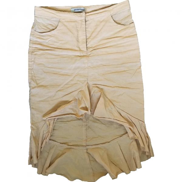 Ermanno Scervino Orange Cotton Skirt