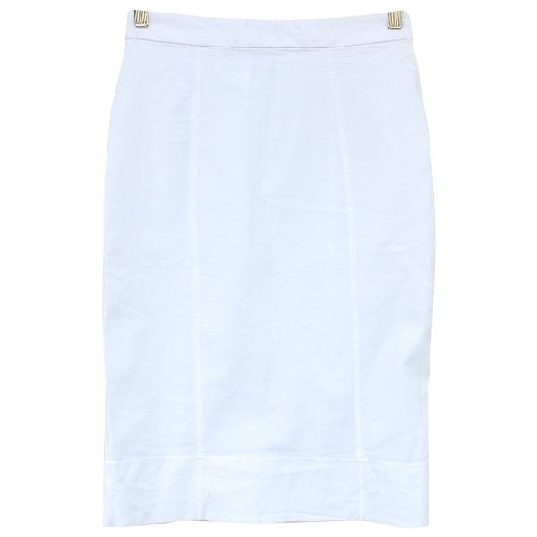 Dolce & Gabbana White Cotton Skirt