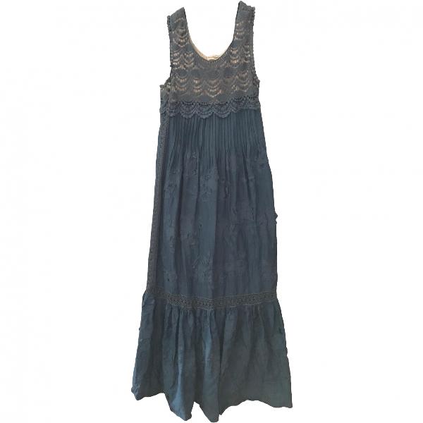 Philosophy Di Alberta Ferretti Blue Cotton Dress