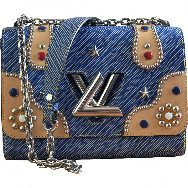 Louis Vuitton Twist Blue Leather Handbag