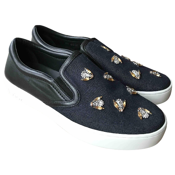 Dior Navy Cloth Trainers