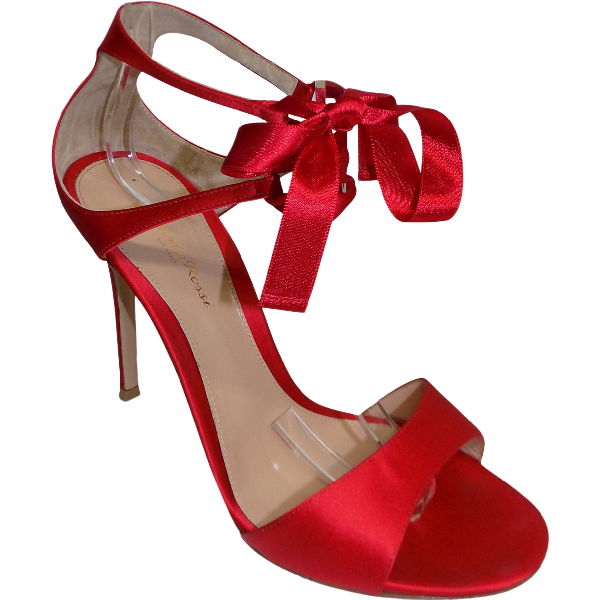 Gianvito Rossi Red Cloth Sandals