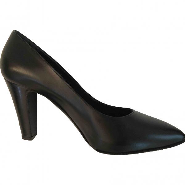 Sergio Rossi Black Leather Heels