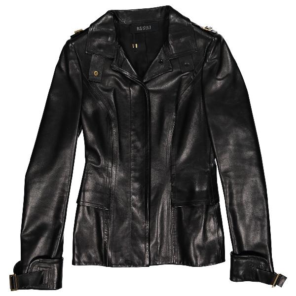 Gucci Black Leather Jacket