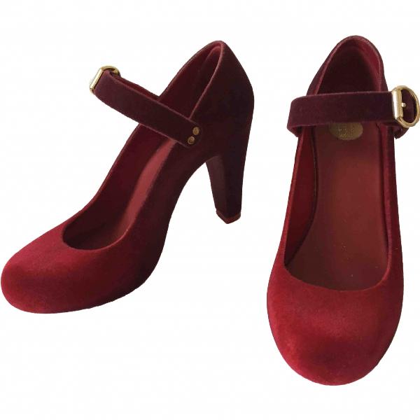 Melissa Red Velvet Heels