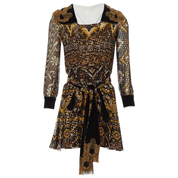Gucci Brown Silk Dress