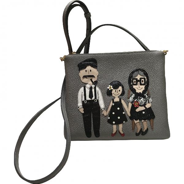 Dolce & Gabbana Grey Leather Handbag
