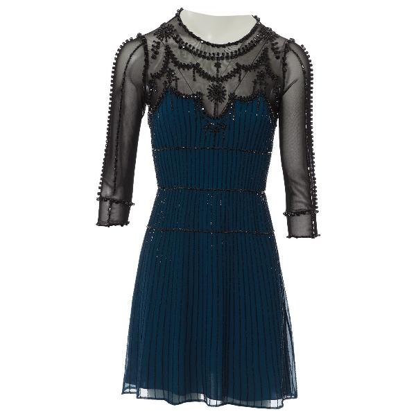 Jenny Packham Blue Silk Dress