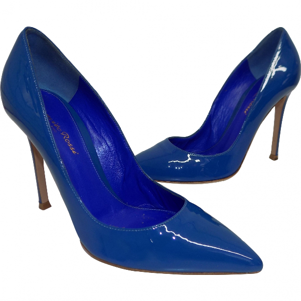 Gianvito Rossi Blue Patent Leather Heels