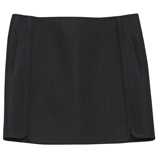 Balenciaga Black Cotton Skirt