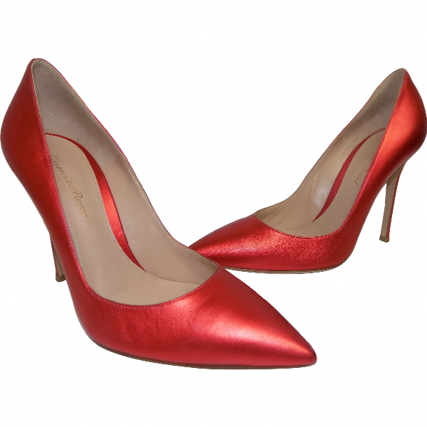 Gianvito Rossi Red Leather Heels