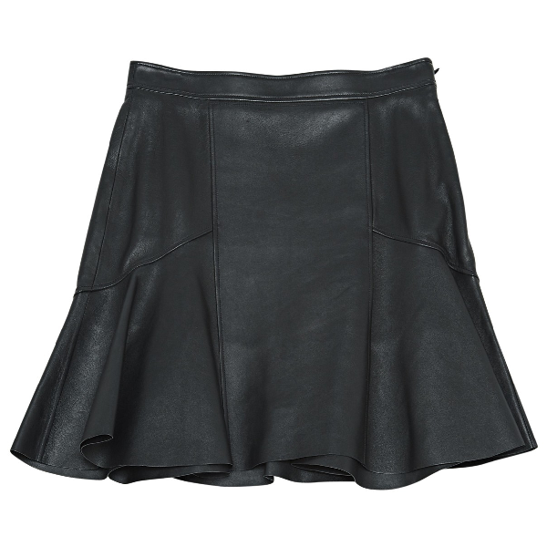Givenchy Black Leather Skirt