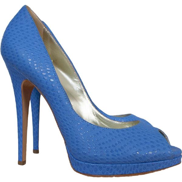 Casadei Blue Leather Heels