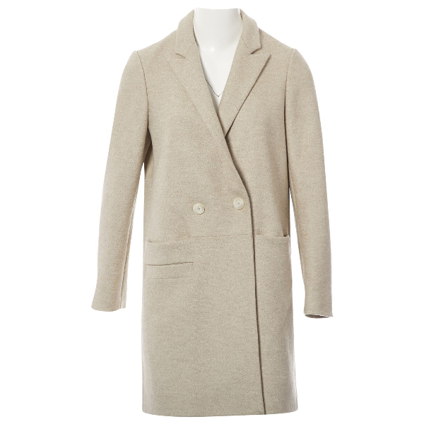 Lala Berlin Ecru Wool Coat