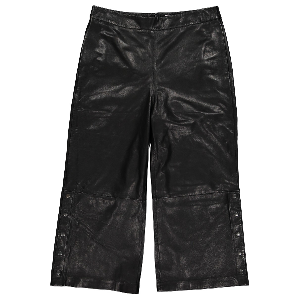 Lala Berlin Black Leather Trousers