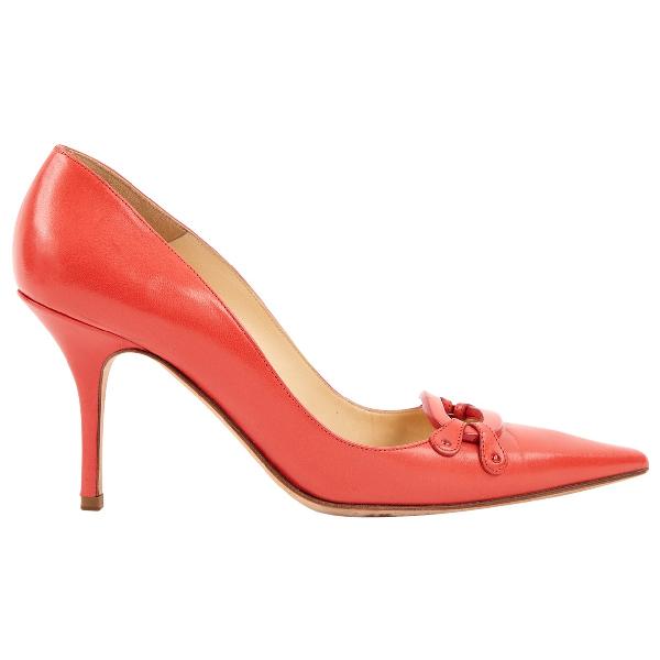 Jimmy Choo Red Leather Heels